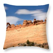 Delicate Arch Famous Landmark In Arches National Park Utah Throw Pillow