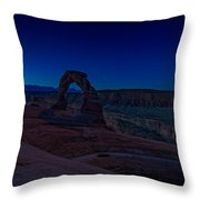 Delicate Arch In The Blue Hour Throw Pillow