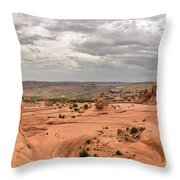 Delicate Arch Panoramic Throw Pillow