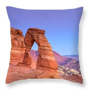 Delicate Arch Sunset Throw Pillow