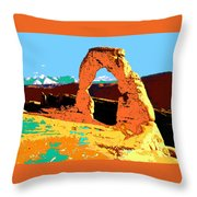 Delicate Arch Utah - Pop Art Throw Pillow