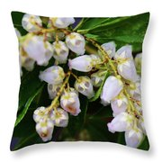 Delicate Blooms Throw Pillow