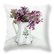 Delicate Bouquet Throw Pillow