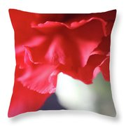 Delicate Carnation  Throw Pillow