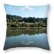 Delicate Clouds Reflected Throw Pillow