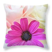 Delicate Contrast Throw Pillow