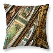 Delicate Details Versailles Chateau Up Close Interior France  Throw Pillow