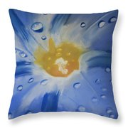 Delicate Dew Throw Pillow