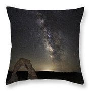 Delicate Galactic Arch Throw Pillow