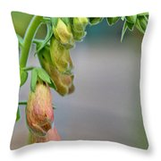 Delicate Hanging Blossom Throw Pillow