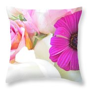 Delicate Intricate Throw Pillow