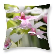 Delicate Orchids By Sharon Cummings Throw Pillow