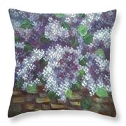 Delicate Perfumed Lilacs Throw Pillow