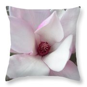 Delicate Pink Magnolia Throw Pillow