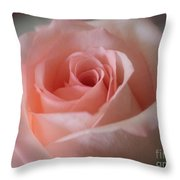 Delicate Pink Rose Throw Pillow