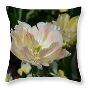 Delicate Pink Tulip 2 Throw Pillow