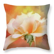 Delicate Rose On Color Splash Throw Pillow