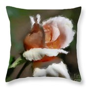 Delicate Rosebud Throw Pillow