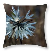 Delicate Silver Wildflower Throw Pillow
