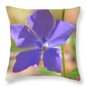 Delicate Touch In Square Throw Pillow