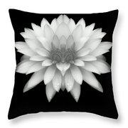 Delicate White Petals Throw Pillow