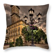 Delicately Peaceful Throw Pillow