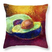 Delicious, A Buttery Avocado Throw Pillow