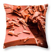 Delicious Bars And Chocolate Chips  Throw Pillow