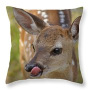 Delicious Deer Throw Pillow