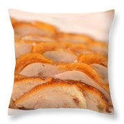 A Delicious Meal Of Roast Duck Throw Pillow