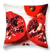 Delicious Pomegranate Throw Pillow