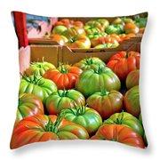 Delicious Tomatoes Throw Pillow