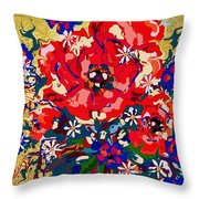Delightful Flowers Throw Pillow