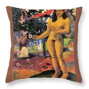 Delightful Land. Te Nave Nave Fenua Throw Pillow