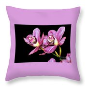 Delightful Orchid Throw Pillow