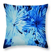 Delightfully Blue Throw Pillow
