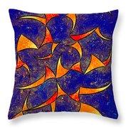 Delissianum V1 - Dancing Fire Throw Pillow