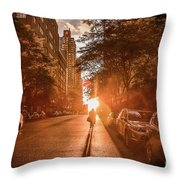 Delivery Man Throw Pillow