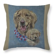Della Then And Now Throw Pillow