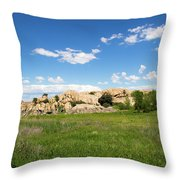 Dells And Lake Throw Pillow
