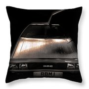 Delorean Throw Pillow