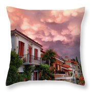 Delphi Greece Sunset Throw Pillow