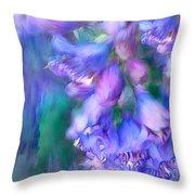 Delphinium Abstract Throw Pillow