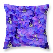 Delphinium Blue Throw Pillow