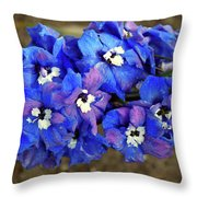 Delphinium Throw Pillow