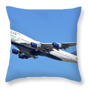 Delta Boeing 747-451 N667us Phoenix Sky Harbor October 7 2017  Throw Pillow
