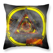 Delta Tunnel - Cg Abstract Render Throw Pillow