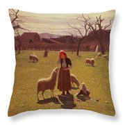 Deluded Hopes Throw Pillow by Giuseppe Pellizza da Volpedo