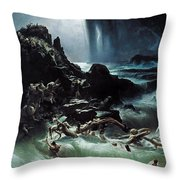 Deluge Throw Pillow
