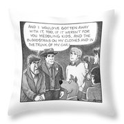 Delusional Criminal Throw Pillow